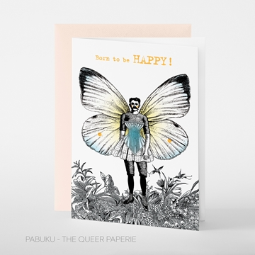 Image de Born to be HAPPY - Grusskarte von pabuku