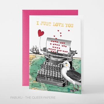 Image de JUST LOVE YOU - Grusskarte von pabuku