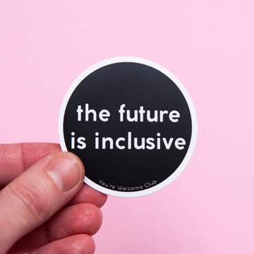 Bild von Sticker - The future is inclusive black