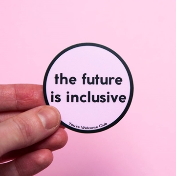 Bild von Sticker - The future is inclusive pink