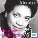 Lorde, Audre: Audre Lorde - Meine Worte werden da sein CD