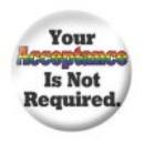 Button - Your acceptance ...