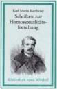 Kertbeny, Karl Maria: Schriften zur Homosexualitätsforschung
